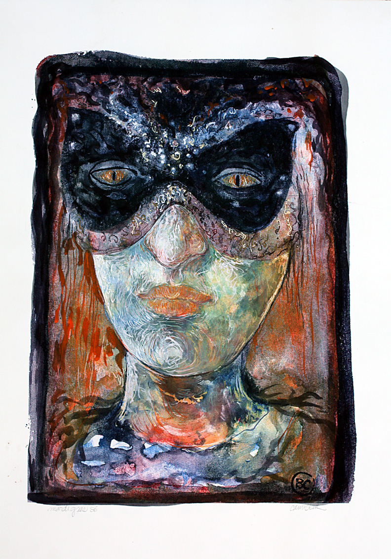 New Orleans Mask Series, watercolor