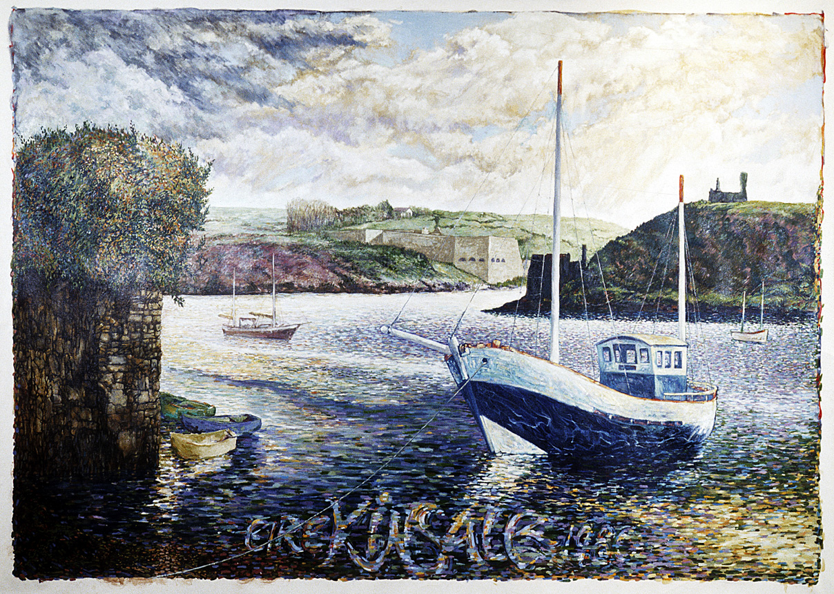 Kinsale, 1980, watercolor on Arches