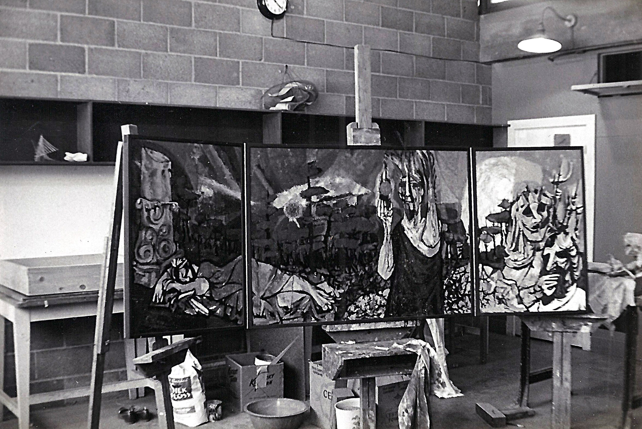 Painting in Kansas City, Yr - 1955