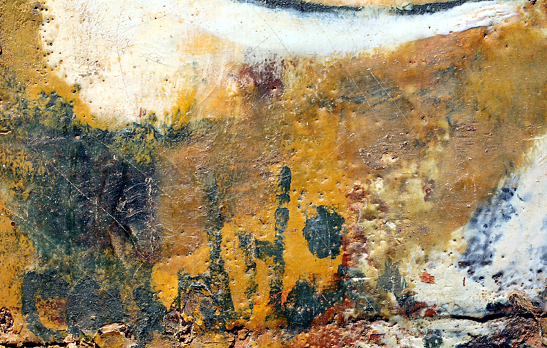 "Title    Encaustic Village Date   1Undated c. 1950s  Dimensions   39 x 29.5 Signature  ""Camblin"" Gallery Location   Available for viewing State   Original encaustic on masonite Rights   © The Camblin Gallery"
