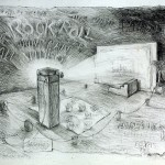 "Title   Rock N Roll Paint Can Video Date  1983 Dimensions   30 X 22 in. Signature   Signed ""anonymous"" Gallery Location   Available for viewing State   Original pencil on two sides Rights   © The Camblin Gallery Caption  Narrative monologue"