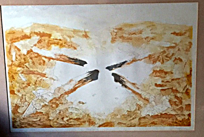 "Title Fire Date 1974 Dimensions 30 x 22 in. Signature Signed ""camblin"" Gallery Location Available for viewing State Stone lithograph, chop, trial proof"