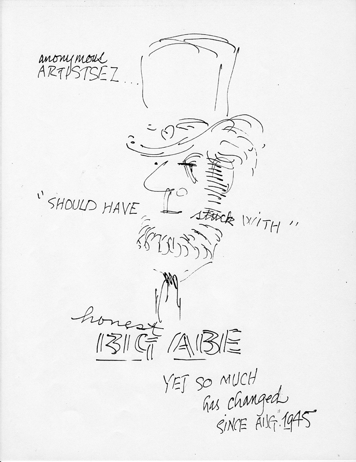 "Cartoon by Bob Camblin. From the series, ""The Unwritten and Untold Story of Big Al."" © The Camblin Gallery"