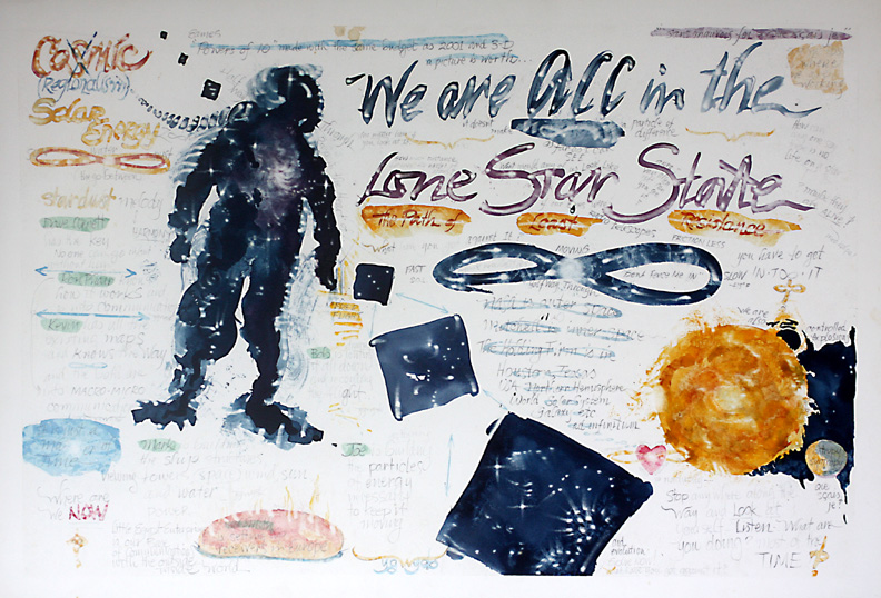 We Are All In The Lone Star State, c. 1970s, pencil and watercolor