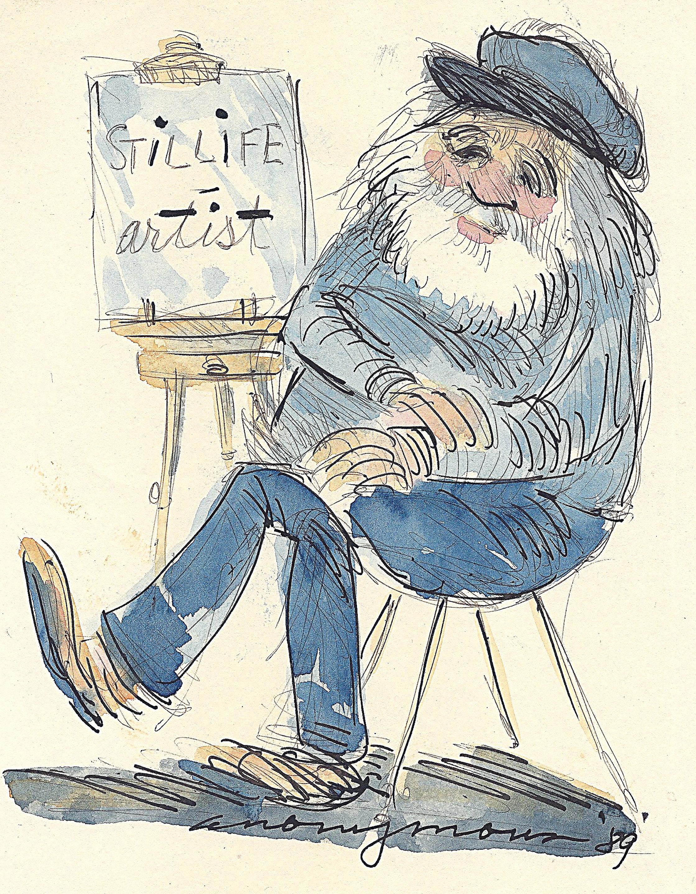 Still Life Artist, sketchbook entry