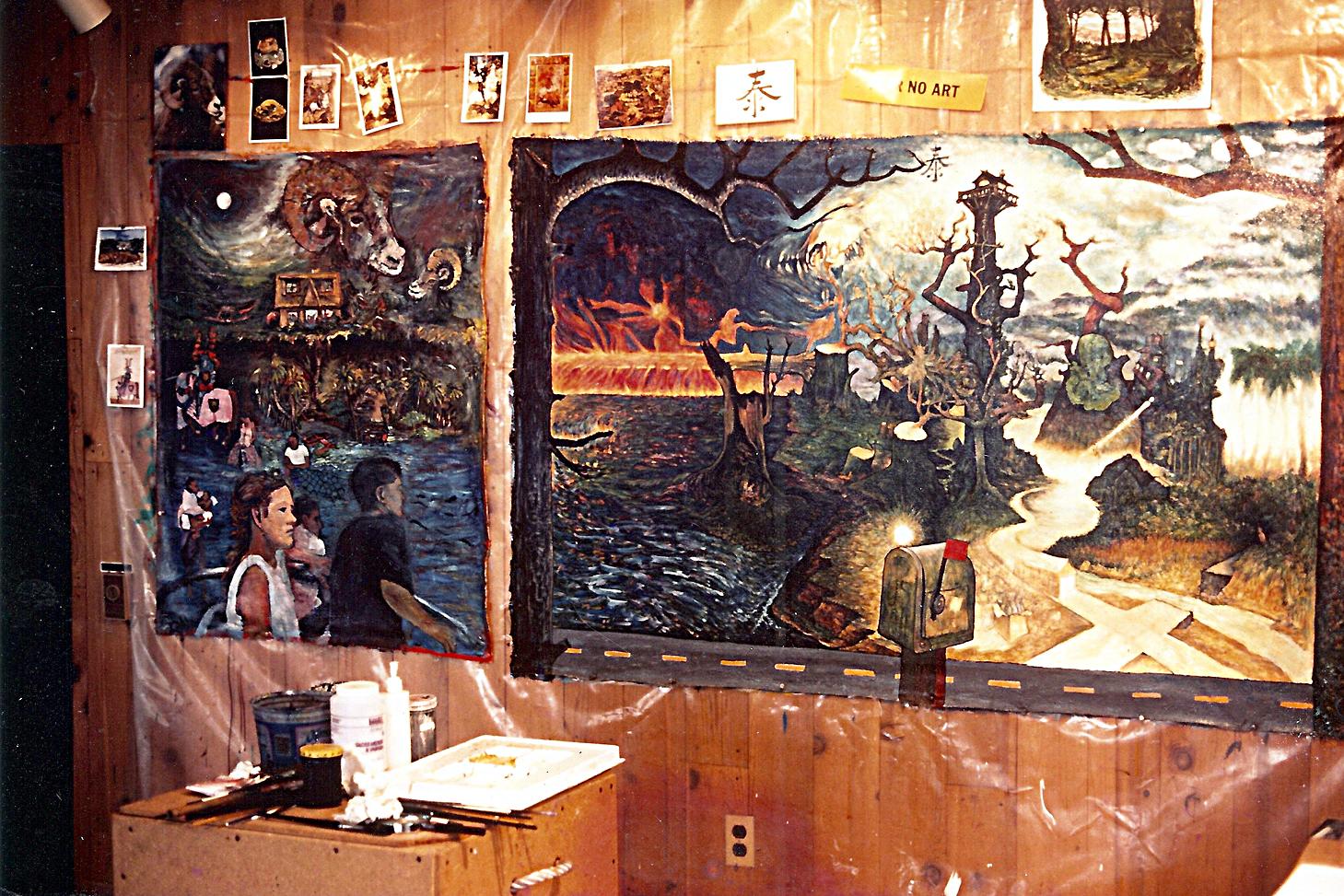 Waldport, Oregon studio, 1991